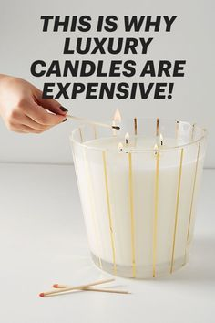 FACTS about what really make luxury candles expensive Nest Candles, Diy Candles Easy, Diy Candles Scented, Big Candles, Candles For Sale, Homemade Candles, Home Candles, Luxury Candles, Candle Making At Home