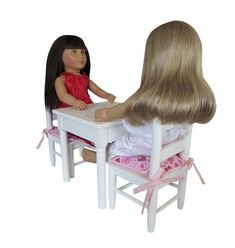 For 18 inch Dolls. Red Dolls, 18 Inch Doll, Chair Cushions, Doll Accessories, Pink, Collection, Chair Pads, Pink Hair, Roses