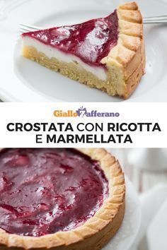 La crostata con ricotta e marmellata è un dolce realizzato con pasta frolla montata, crema di ricotta profumata al limone e uno strato di marmellata! Buonissima come quella preparata dalla nonna! #giallozafferano #tart #crostatamorbida #crostatamarmellata #pastafrolla #crostata #crostataricotta #ricotta [Easy ricotta and jam tart] Baking Recipes, Dessert Recipes, Cheesecake, Torte Cake, Best Italian Recipes, Strato, Something Sweet, Flan, Ricotta