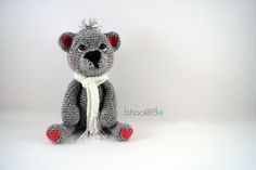 Crochet Teddy Bear Free Pattern from bhookedcrochet.com