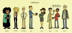 "Community ""Looks like we've all been turned into cartoons Cool Cool Cool Cool"" Abed lol"
