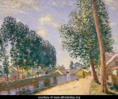 The Loing Canal at Moret, c.1892 - Alfred Sisley - www.alfredsisley.org