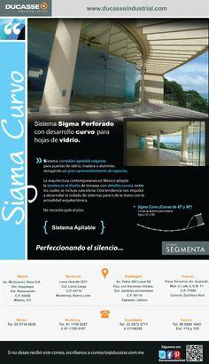 Sistema Sigma Perforado con desarrollo curvo para hojas de vidrio.