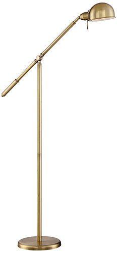 "best floor lamps: 4. Dawson Antique Brass 55 ½"" High Pharmacy Floor Lamp"