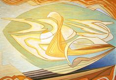 """Painting (Horizontal Abstract),"" Lawren Harris, ca. 1948, oil on canvas, 32 1/4 x 43 1/4"", Art Gallery of Hamilton."