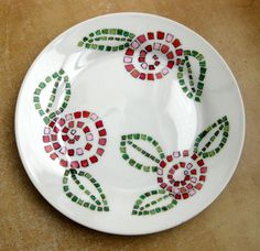 Wonderful Hand Painted Plate by me @SusanArtandDesign