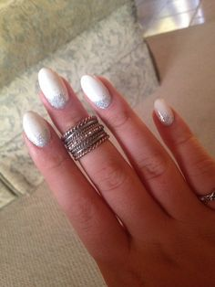 Glitter Oval Acrylics. Absolute Perfection.
