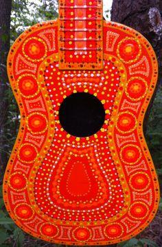 Orange Hand Painted Ukulele   Summer Inspiration