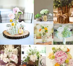 Rae By Day Vintage Woodland Wedding Spring Centerpiece Inspiration