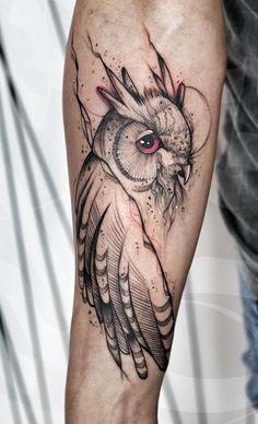 Tattoo Foto, Blackwork, Tatting, Internet, Ink, Ideas, Tattoo Owl, Tattoo Studio, Owl Tattoo Drawings