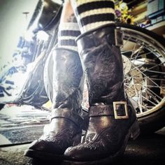 Black on Black Biker Eagle Boots - simply awesome!