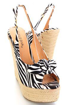 zebra espadrille