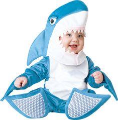 Open face one piece plush Shark infant apparel