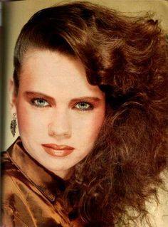 maquillaje años 80