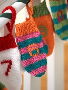 Advent Mini Mittens   Yarn   Free Knitting Patterns   Crochet Patterns   Yarnspirations