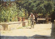 KRØYER, Peder Severin - The Garden at the Haven Hotel del Liri in Sora, Abruzzi (1880) 23.7 × 32.6 cm (oil on panel) (Skagens Museum, Denmark)