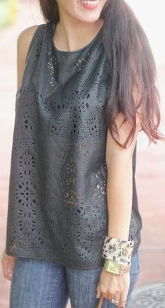 Laser Cut Leather  by The Chiffon Diary