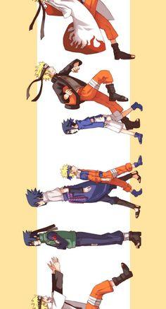 Naruto and Sasuke Naruto Vs Sasuke, Anime Naruto, Naruto Shippuden Anime, Naruto Art, Otaku Anime, Boruto, Sasunaru, Narusasu, Shikatema