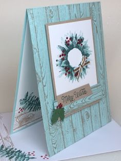 A pretty wreath using the Painted Harvest stamp set by Stampin Up