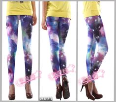 Girls Punk stars of lightning Tights Printed leggings galaxy $9.58