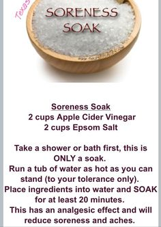 Texas Fit Chicks Soreness Soak. Help ease muscle soreness after an intense workout session.