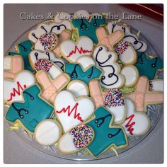 Nurse Cookies by Cakes On The Lane using Cookie Cutters from The Cookie Cutter Company