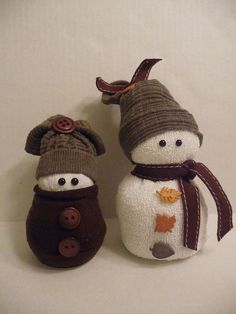 Hometalk | Sock Snowmen or Snow Babies As I Like To Call Them