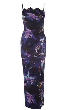 Karen Millen Signature Print Maxi Dress Purple&Multi - Karen Millen Outlet - $84.66