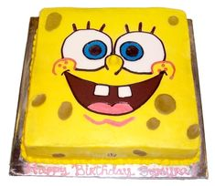 Delicious Butterscotch Spongebob Cake Increases Your Child's Excitement & Surprise!! This is Available in Shop2Nellore.