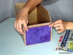 Tuto DIY Casier en carton - décoration devant