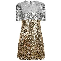 Dolce & Gabbana sequinned dress ($2,895) ❤ liked on Polyvore featuring dresses, grey, short-sleeve maxi dresses, short dresses, sequin dresses, short sleeve cocktail dresses and gray cocktail dress
