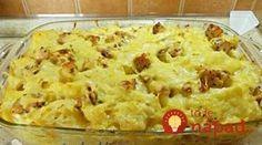 Rýchla večera raz-dva-tri: Cestoviny zapečené s mäsom a syrovou omáčkou! Ham, Mashed Potatoes, Macaroni And Cheese, Food And Drink, Vegetables, Cooking, Ethnic Recipes, Recipes, Diet