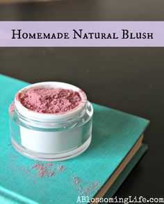 Homemade Natural Blush made with Arrowroot Powder and Beet Root Powder