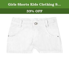 Girls Shorts Kids Clothing Summer Bottoms Pulla Bulla 4-6 Years - White. Girl colorful shorts come in a bright solid colors and feature pockets. Made with high quality materials for your childs everyday style and comfort. Pulla Bulla authentic collections of children apparel are made exclusively in Brazil and shipped to our customers worldwide from the United States. Please note: if your child is in between sizes, order a size up.