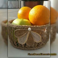 Basket, fruit basket, candy box  #basket #jute #fruitbasket #candybox #finestdecorelements