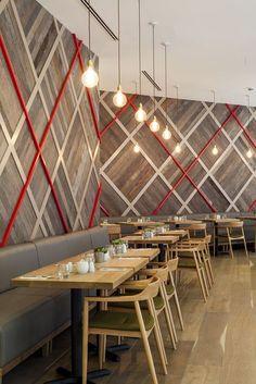 The Royal Quarter Cafe London designed Geometry Design Restaurant Design, Restaurant Furniture, Restaurant Trends