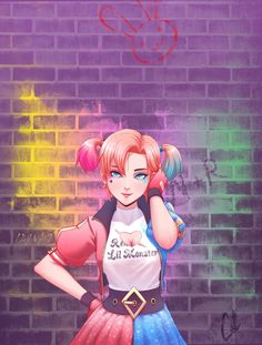 Nora Quinn by Cal-Tran<<< I was like wait do I save this to Rwby or DC? Then I was like oh wait I can do both! Harley Quinn Drawing, Joker And Harley Quinn, Neon Katt, Nora Valkyrie, Hearly Quinn, Team Rwby, Rwby Fanart, Joker Art, Cosplay
