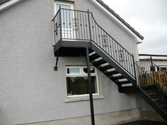 Aluminium Stairs, Iron Stairs, Aluminium Fire Exit Stairs, External Wrought  Iron And Steel