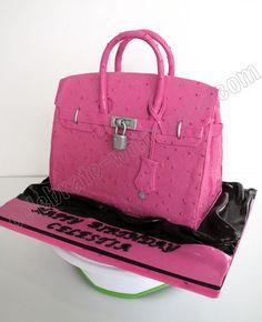 543ea4229ac4 Celebrate with Cake!  Hermes Birkin in Ostrich Skin Bag Cake 26 Birthday  Cake