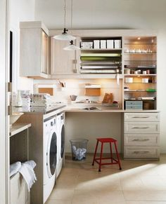 Laundry and Craft Room - craft & wrapping station. If only!