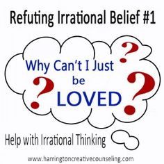 Learn how to counter one of the most common irrational thoughts. Free printable worksheet included!