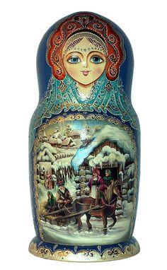 Matryoshka Doll Снегурочка (The Snow Maiden). http://www.pinterest.com/MatryoshkasSoap/one-of-a-kind-matryoshka/