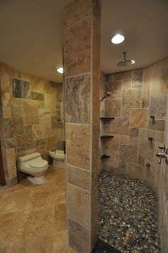 Bali Ocean Pebble tile shower pan This is different!  I like it!