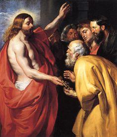 """Christ Giving the Keys to St Peter"" - Peter Paul Rubens"