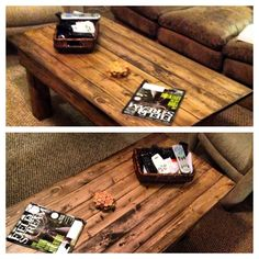 Homemade coffee table #diytable #wooden
