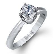 Simon G Solitaire 18k - White Gold Diamond Engagement Ring