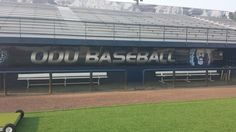 Go Big Blue!  These awesome graphics were installed inside the ODU Baseball home and visitors dugouts!  Be sure to take a look while you are cheering them on! #ODU #ODUBaseball #Monarchs #SpeedProVB