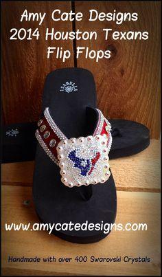 19761a7b1b46e5 Amy Cate Designs - 2014 ACD Houston Texans Flip Flop