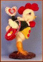 Needle felted Valentine Chicken