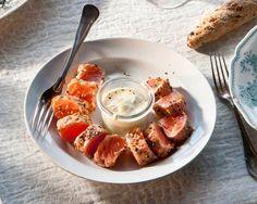 Lohipastrami, resepti – Ruoka.fi Waffles, French Toast, Breakfast, Easy, Anna, Foods, Morning Coffee, Food Food, Food Items